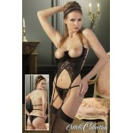 Set lenjerie sex - corset, chilot & ciorapi
